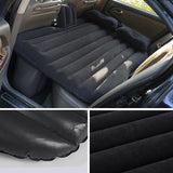 Inflatable Car Mattress Portable Travel Camping Air Bed Rest Sleeping Bed Black