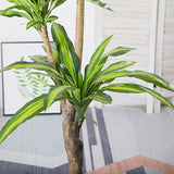 SOGA 180cm Green Artificial Indoor Brazlian Iron Tree Fake Plant Decorative 3 Heads