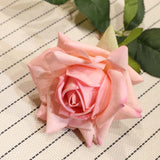SOGA 12 Heads Artificial Silk Flower Fake Rose Bouquet Table Decor Pink