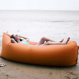 Fast Inflatable Sleeping Bag Lazy Air Sofa Orange