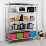 SOGA Stainless Steel 4 Tier Kitchen Shelving Unit Display Shelf Home Office 150CM