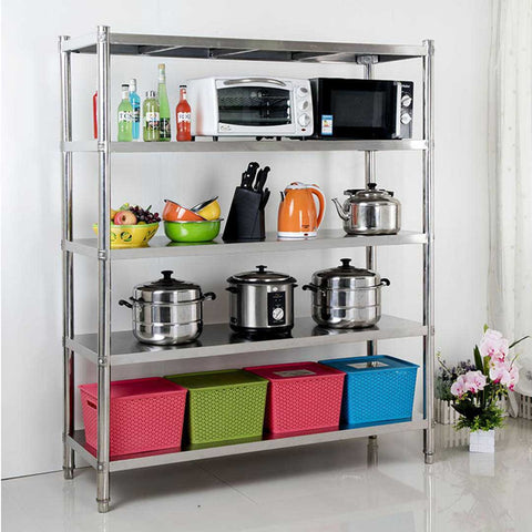 timeless design 12ab8 13c65 SOGA Stainless Steel 4 Tier Kitchen Shelving Unit Display ...