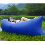 2X Fast Inflatable Sleeping Bag Lazy Air Sofa Blue/Purple