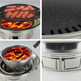 BBQ Grill Stainless Steel Portable Smokeless Charcoal Grill Home Outdoor Camping