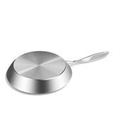 SOGA 4X Stainless Steel Fry Pan Frying Pan Induction FryPan Non Stick Interior Skillet