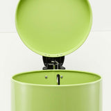 SOGA Foot Pedal Stainless Steel Rubbish Recycling Garbage Waste Trash Bin Round 7L Green