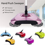 SOGA Auto Household Spin Hand Push Sweeper Home Broom Room Floor Dust Cleaner Mop Purple