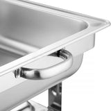 SOGA Stainless Steel Roll Top Chafing Dish 2*4.5L Dual Trays Food Warmer
