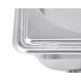 SOGA Stainless Steel Chafing Double Tray Catering Dish Food Warmer
