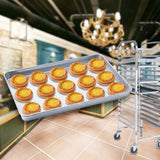 SOGA Aluminium Oven Baking Pan Cooking Tray for Baker Gastronorm 60*40*5cm