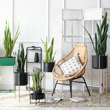 SOGA 2X 97cm Artificial Indoor Snake Sansevieria Plant Fake Decoration Tree Flower Pot