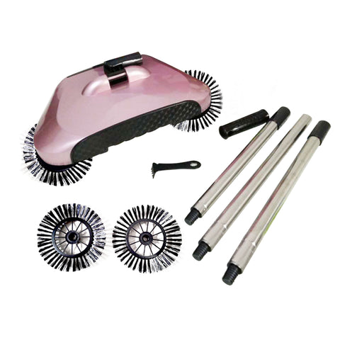 Auto Household Spin Hand Push Sweeper Home Broom Room Floor