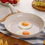 SOGA Non-Stick Fry Pan Marble Stone Ceramic Coated Skillet Pan Set 20cm, 24cm, 28cm