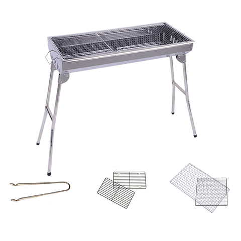 ... SOGA Skewers Grill Portable Stainless Steel Charcoal BBQ Outdoor 6 8  Persons