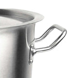 SOGA 9L Wide Stock Pot  and 33L Tall Top Grade Thick Stainless Steel Stockpot 18/10