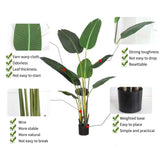 SOGA 160cm Artificial Green Indoor Traveler Banana Fake Decoration Tree Flower Pot Plant