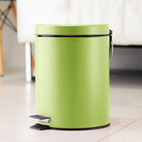 SOGA Foot Pedal Stainless Steel Rubbish Recycling Garbage Waste Trash Bin Round 12L Green