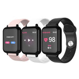 SOGA Waterproof Fitness Smart Wrist Watch Heart Rate Monitor Tracker Pink