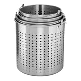 SOGA 33L 18/10 Stainless Steel Perforated Stockpot Basket Pasta Strainer with Handle