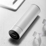 SOGA 2X 500ML Stainless Steel Smart LCD Thermometer Display Bottle Vacuum Flask Thermos White