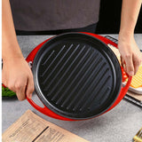 SOGA 2X Enamel porcelain Cast Iron Frying Pan Skillet Non-stick Coating Steak Sizzle Platter 26cm