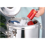 SOGA 2X 30L Stainless Steel Insulated Stock Pot Dispenser Hot & Cold Beverage Container With Tap