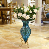 SOGA 12 Heads Artificial Silk Flower Fake Rose Bouquet Table Decor White