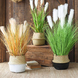 SOGA 137cm Green Artificial Indoor Potted Bulrush Grass Tree Fake Plant Simulation Decorative