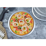SOGA 6X 12-inch Round Seamless Aluminium Nonstick Commercial Grade Pizza Screen Baking Pan
