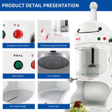 SOGA 350W Commercial Ice Shaver Crusher Machine Automatic Snow Cone Maker