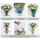 SOGA 85cm Blue Glass Tall Floor Vase and 12pcs Pink Artificial Fake Flower Set