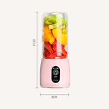 SOGA Portable Mini USB Rechargeable Handheld Juice Extractor Fruit Mixer Juicer Pink