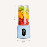 SOGA 2X Portable Mini USB Rechargeable Handheld Juice Extractor Fruit Mixer Juicer Blue