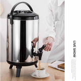 SOGA 12L Portable Insulated Cold/Heat Coffee Tea Beer Barrel Brew Pot With Dispenser