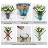 SOGA 85cm Clear Glass Tall Floor Vase with 12pcs Artificial Fake Flower Set