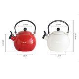 2.0 Litre 18/10 Stainless Steel Enameled Porcelain Kettle Kitchen New White
