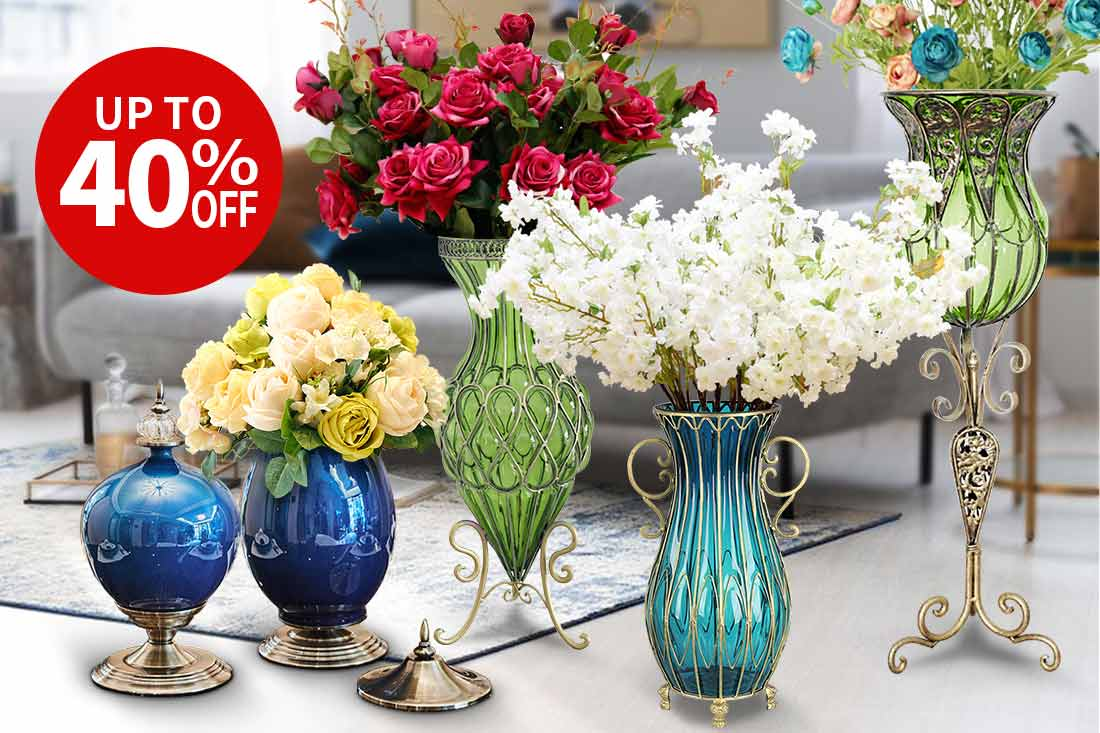 Vases and Artificial Flowers