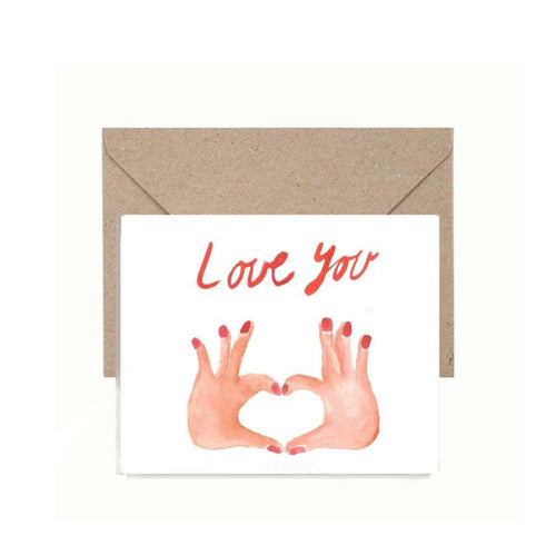 Instant Download Valentines Day Card - Love You Greeting Card