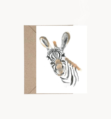 Instant Download -Zebra Folding Card And Art Print Digital