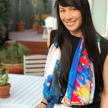 Load image into Gallery viewer, WILD SILK black cockatoo scarf
