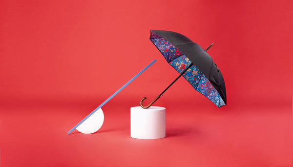 Premium Art Umbrella from Sweden / Design paraply från Stockholm / online product available / free delivery / BLOMMOR - Straight Art Umbrella - zontjkdesign