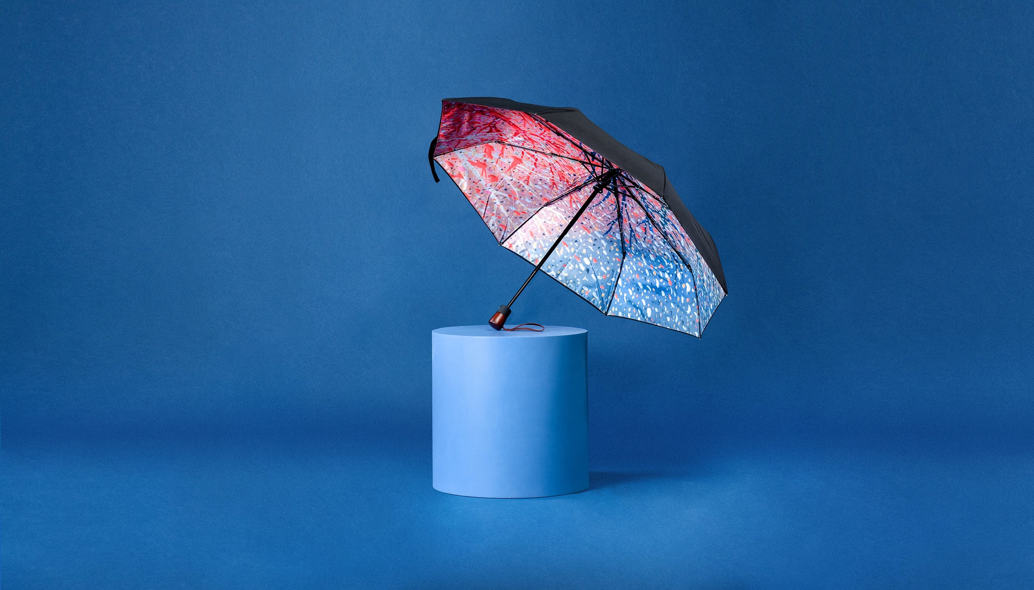 Premium Art Umbrella from Sweden / Design paraply från Stockholm / online product available / free delivery / JUST ANOTHER WINTER - compact Art Umbrella, present box - zontjkdesign