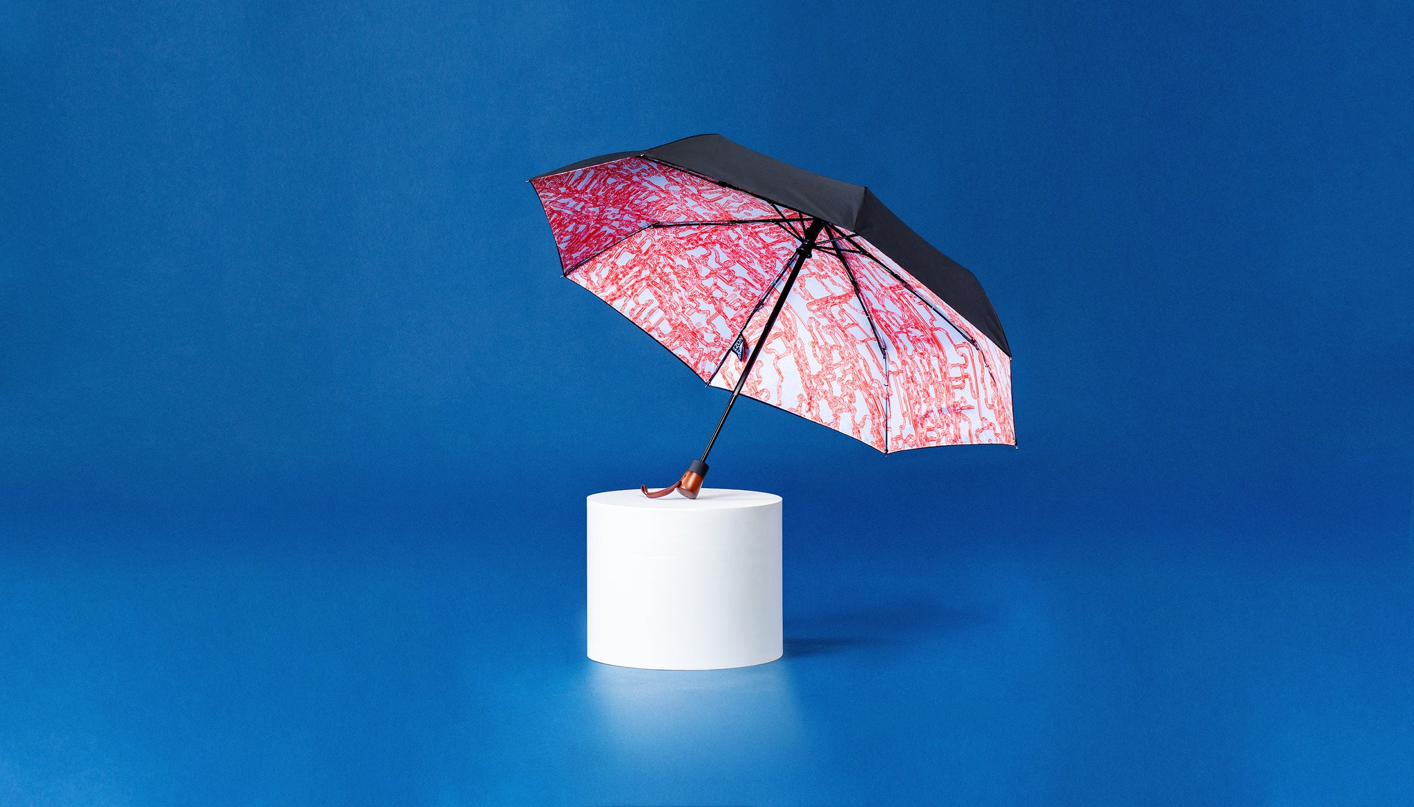 Premium Art Umbrella from Sweden / Design paraply från Stockholm / online product available / free delivery / INFINITY - compact Art Umbrella, present box - zontjkdesign