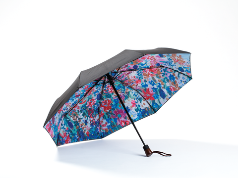 FLOWERS -  Compact Umbrella, Gift Box Included - zontjkdesign