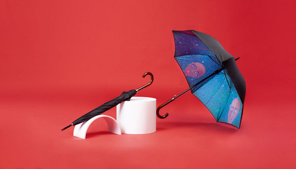 Premium Art Umbrella from Sweden / Design paraply från Stockholm / online product available / free delivery / WE ARE - Straight Art Umbrella - zontjkdesign / BLM / Green Umbrella
