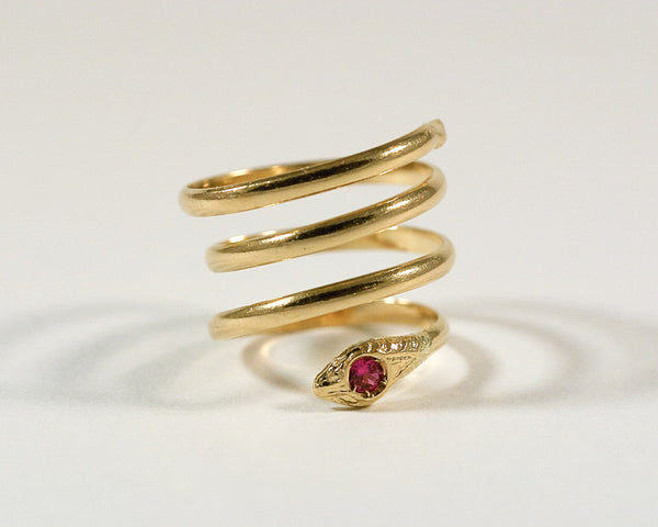 Bague serpent en or