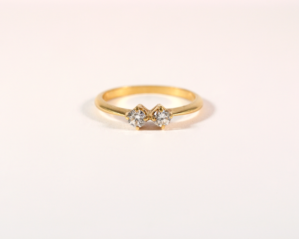 Bague or jaune, diamants et émeraudes - CHAUMET PARIS
