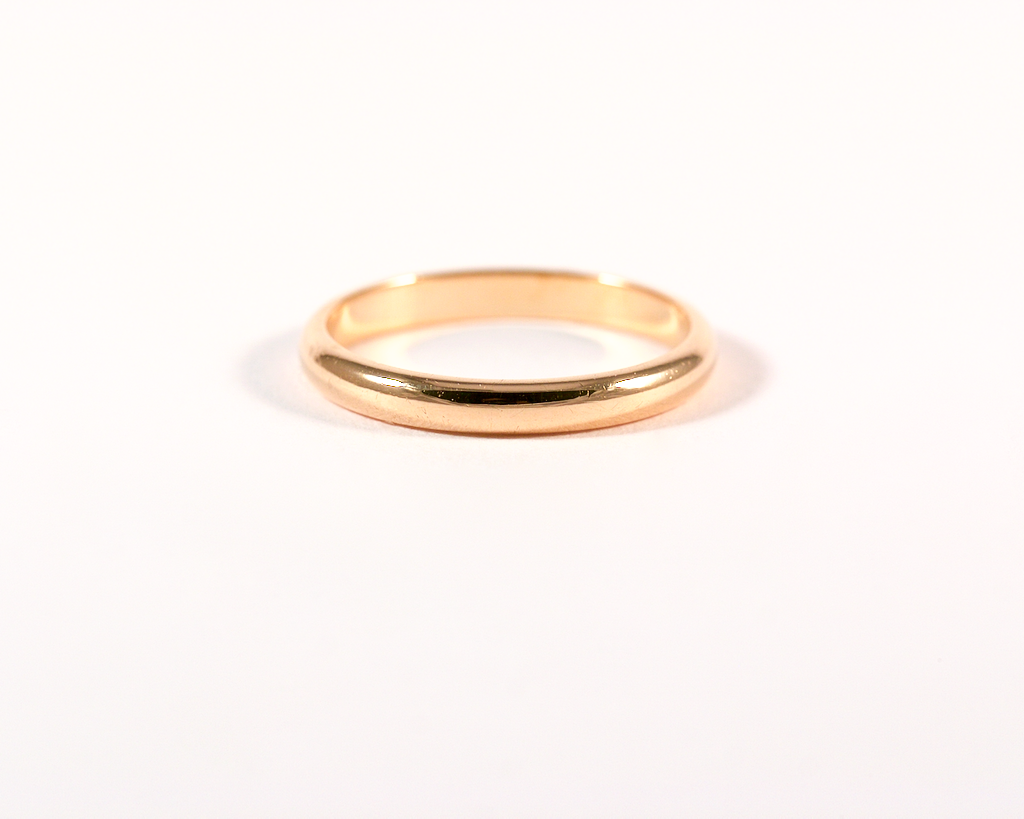 GM277-3 ICYMI Alliance demi jonc or rose portée// Pink gold wedding ring band