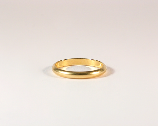 GM380-1 ICYMI alliance en or jaune - Yellow gold wedding band ring