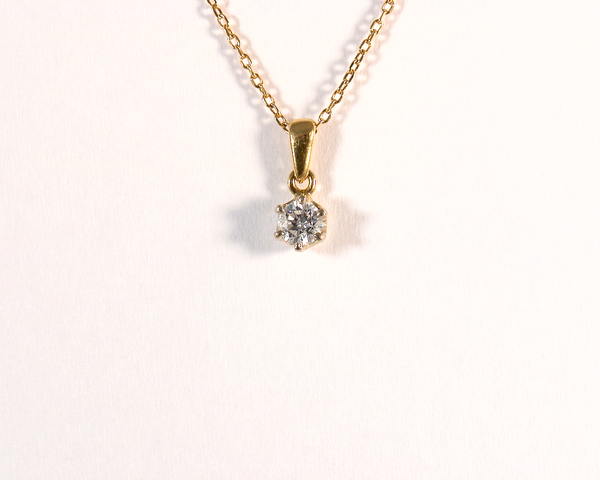 GM477bis-1 ICYMI Pendentif diamant taille brillant et sa chaîne en or jaune - Gold chain and diamond pendant